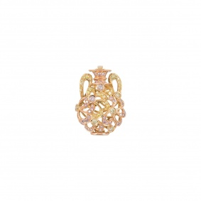 Diamond Yellow Gold Vase Pendant